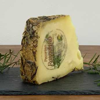 <h5>Pecorino Cheese Aged Under Rosemary Leaves.</h5>