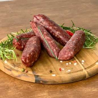<h5>Cured Cinta Senese PDO Pork Sausage.</h5>