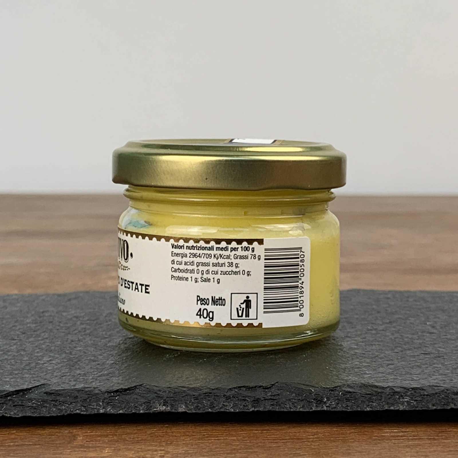 Schwarzer Sommer Trüffelbutter - Tuber Aestivum Vitt. - 100% Italienisch.