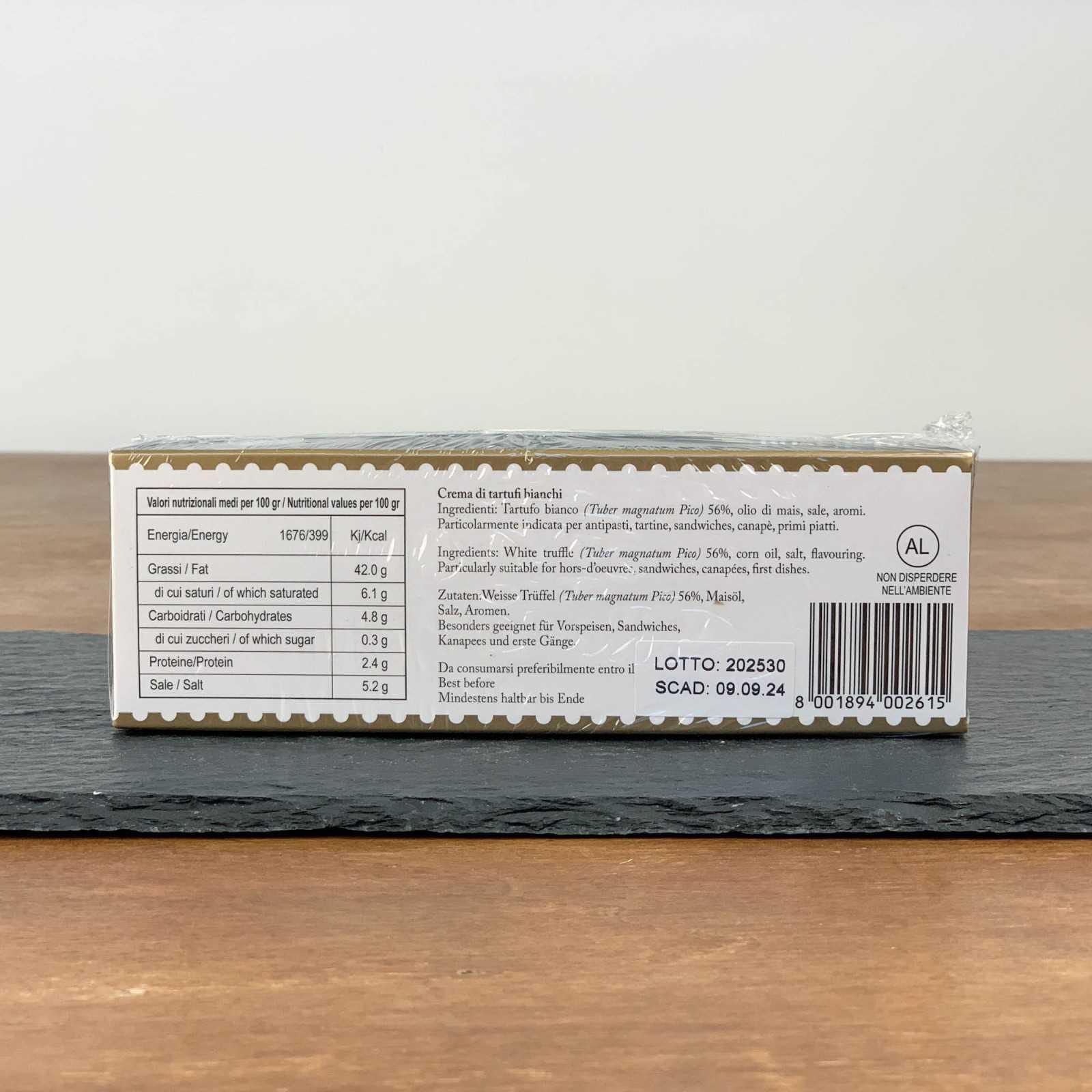 White Truffle Cream 56% - Tuber Magnatum Pico - 100% Italian.
