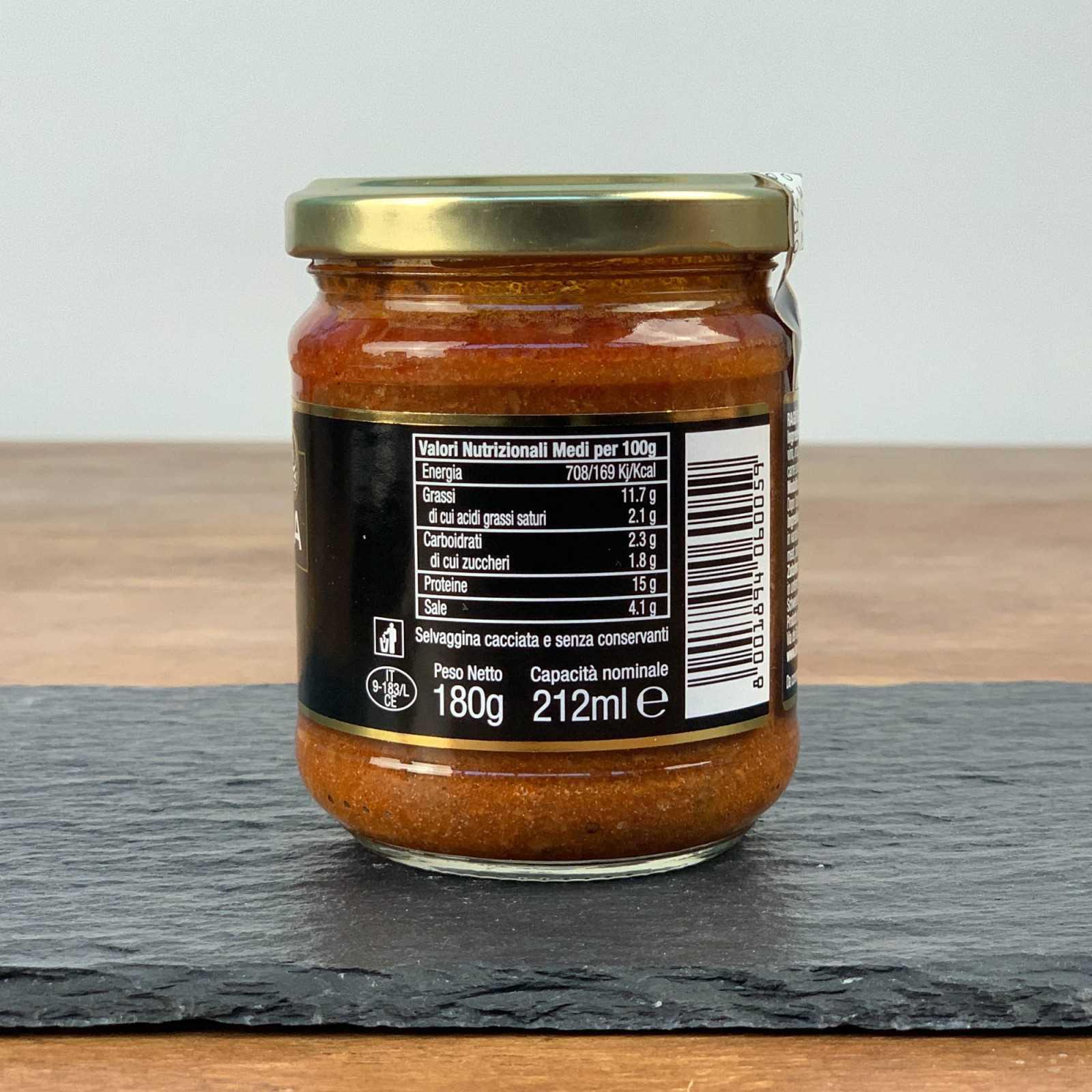Roe Deer Meat Pasta Sauce.