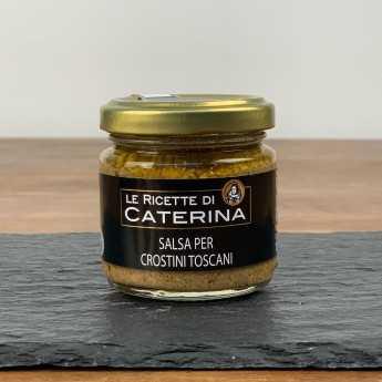 """<h5>Chicken Liver Pâté - Black Tuscan """"Crostini"""".</h5>"""