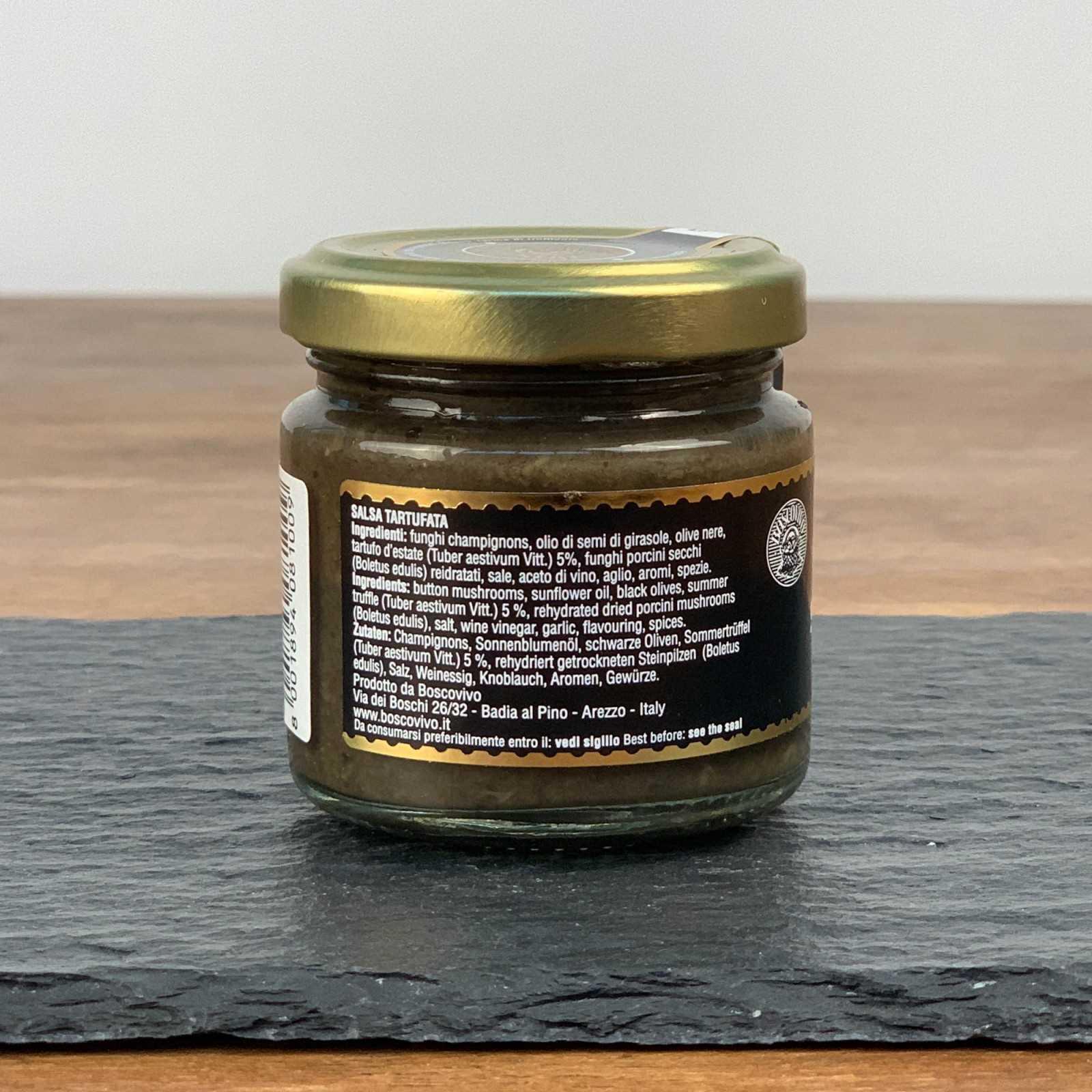 Black Summer Truffle Sauce - Tuber Aestivum Vitt. - 100% Italian.