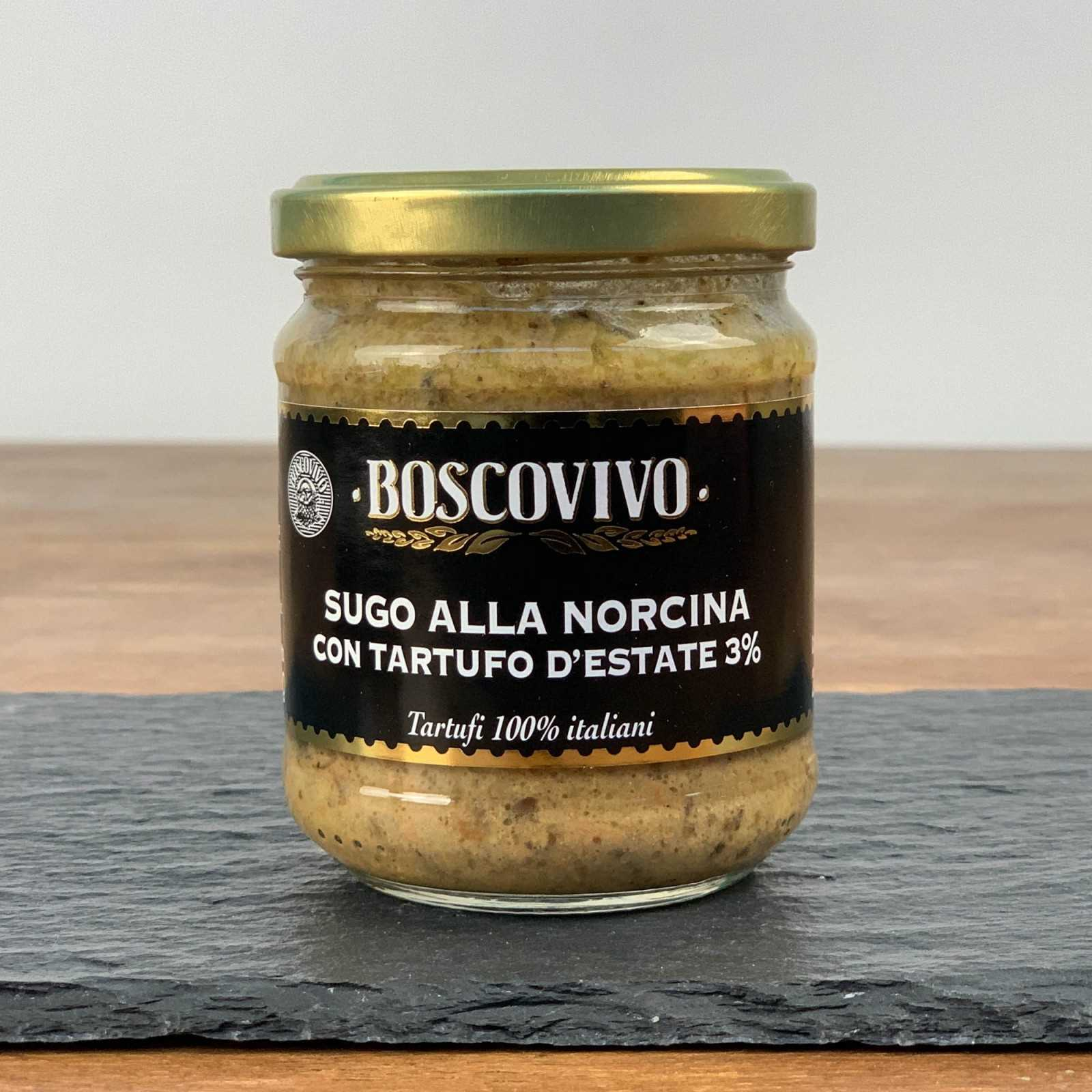 """Trüffel """"Norcina"""" Nudelsauce - Sommertrüffel 3% Tuber Aestivum Vitt. - 100% Italienisch."""