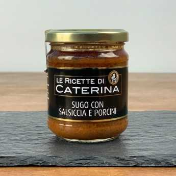 Sausage And Porcini Mushrooms Pasta Sauce.