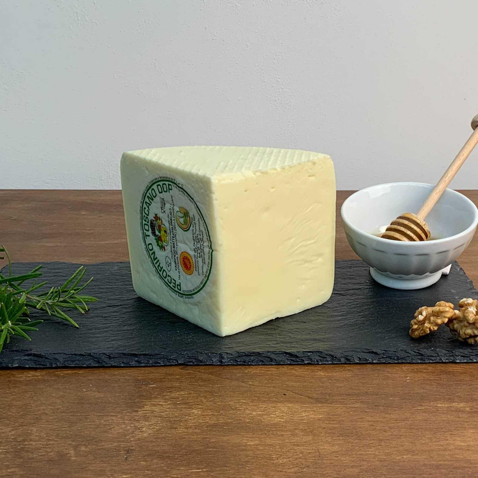 Slightly Aged Tuscan Pecorino Cheese PDO.