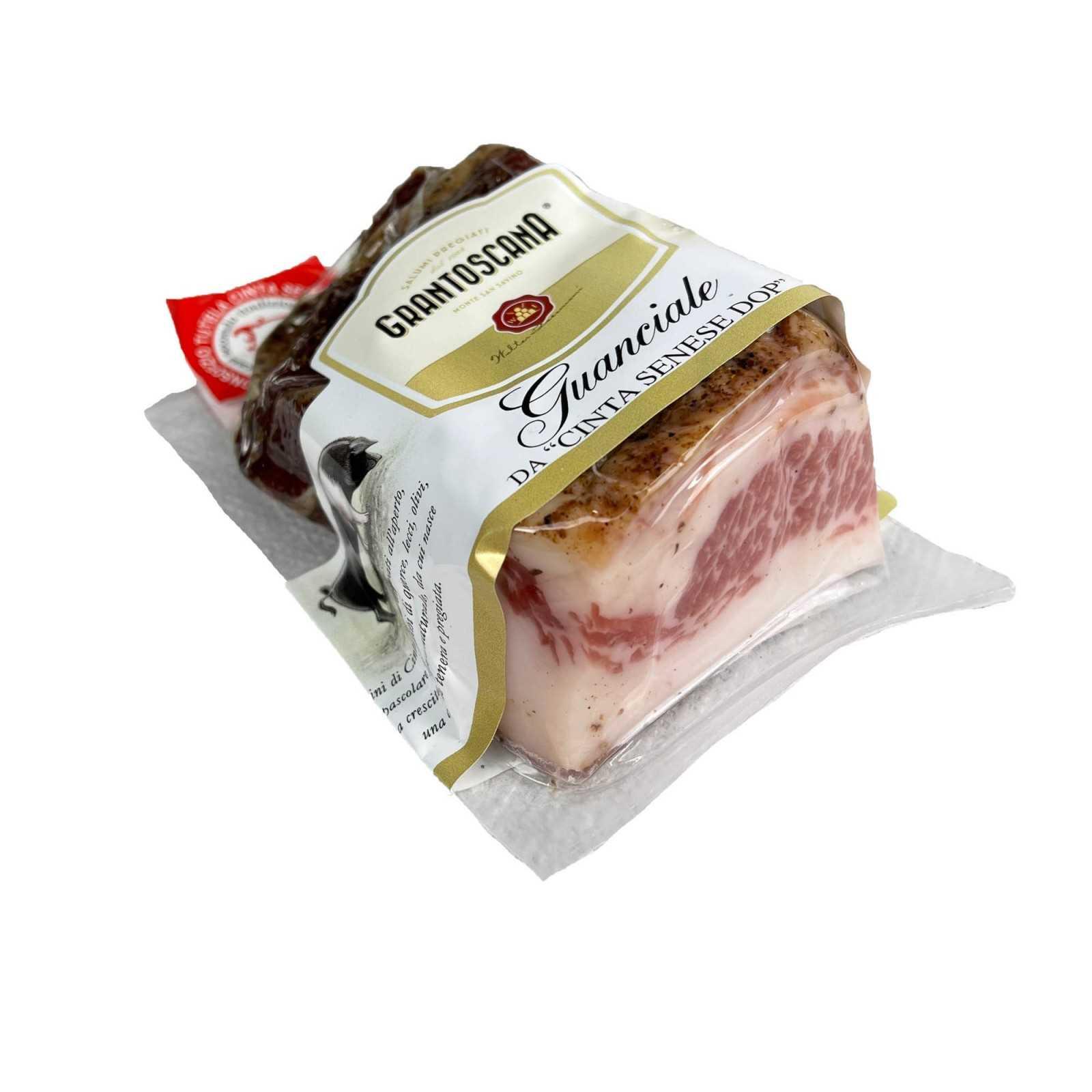 Cinta Senese PDO Tuscan Pork Jowl (Guanciale).