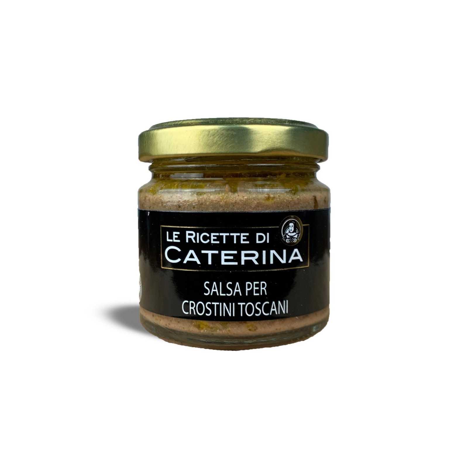 "Chicken Liver Pâté - Black Tuscan ""Crostini""."