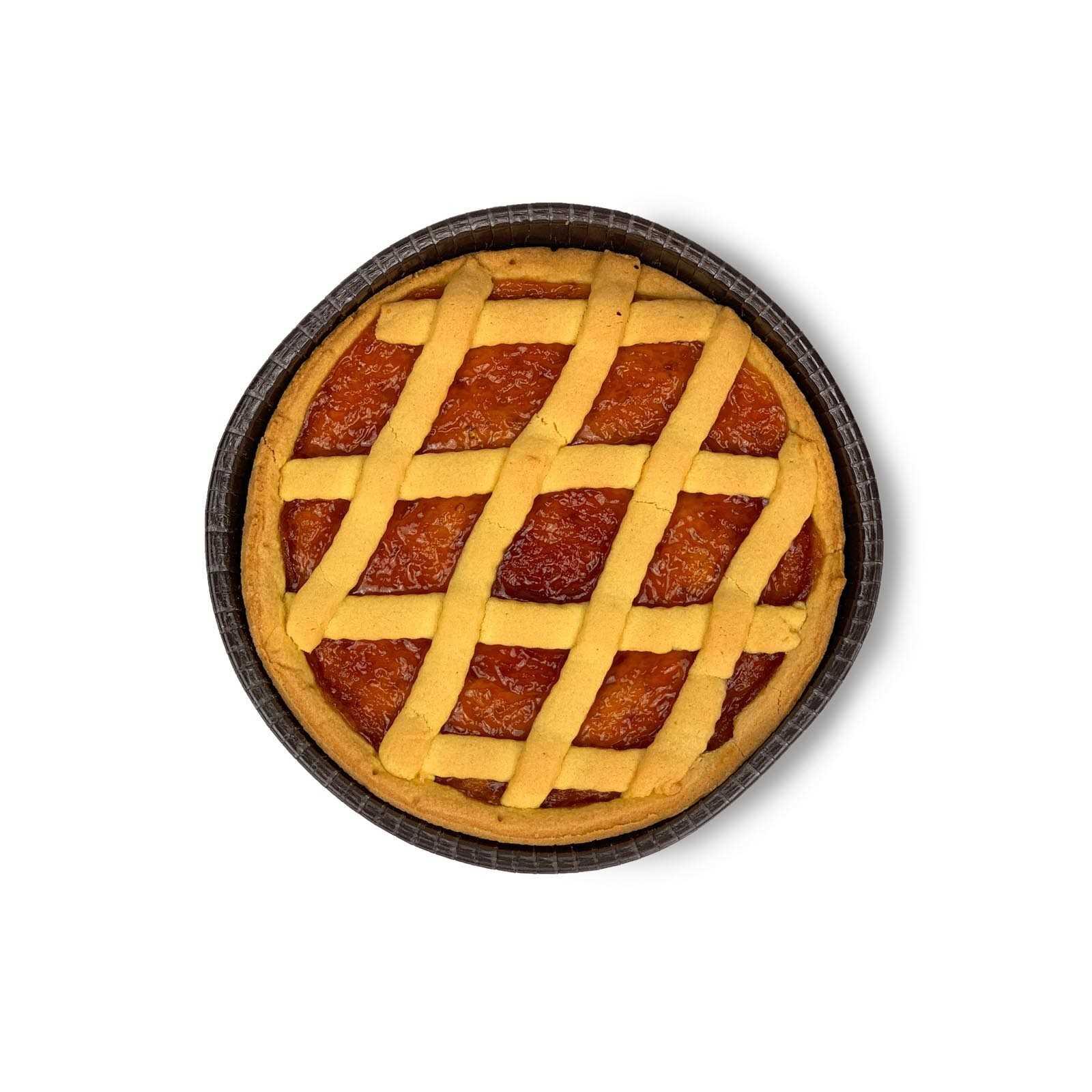 """Crostata"" Aprikosenmarmeladentorte."