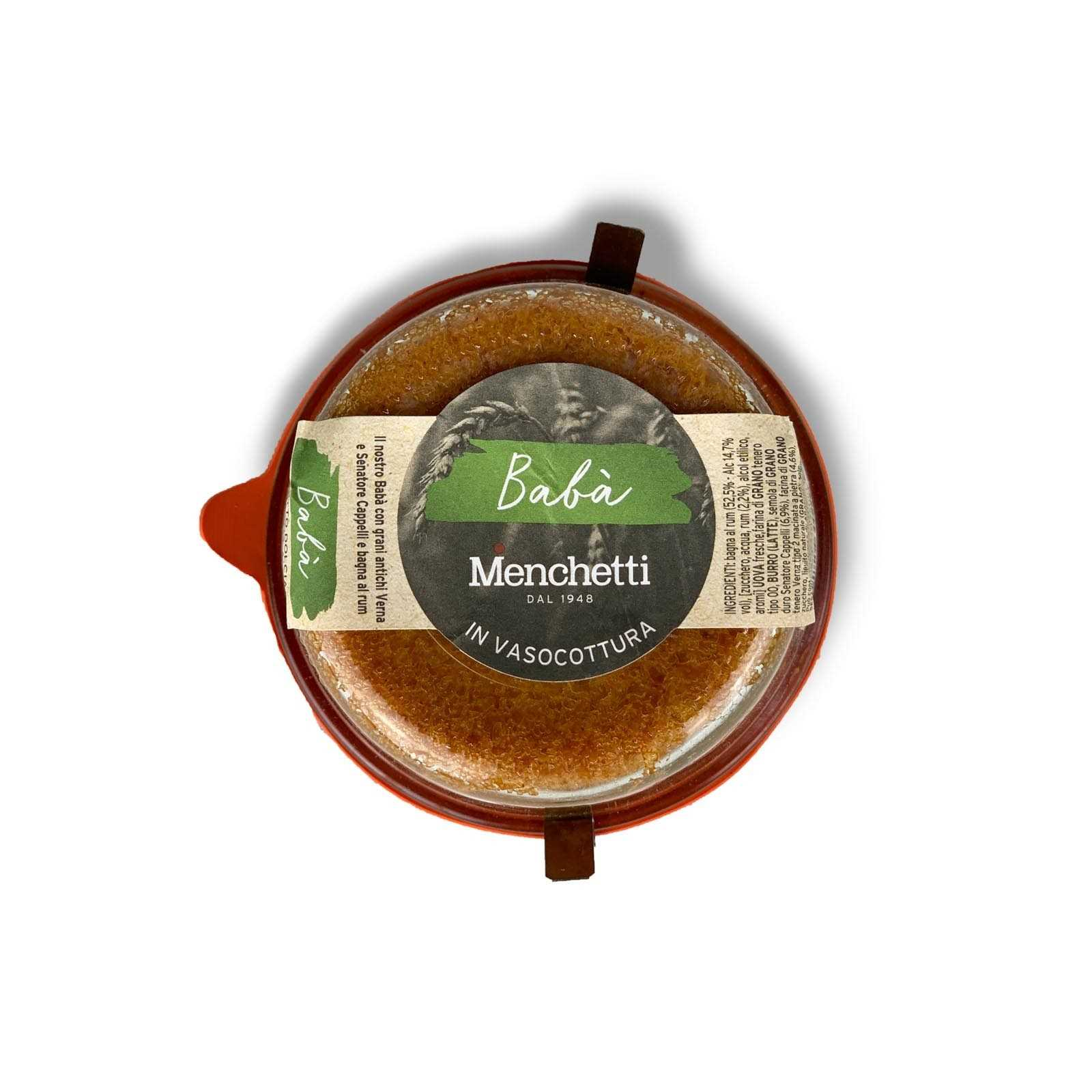 """Rum """"Babà"""" baked in a jar made with ancient Tuscan wheat Verna and Senatore Cappelli."""
