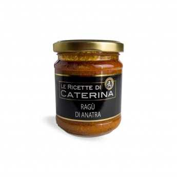 Artisan ragù with duck meat, produced according to an ancient Tuscan recipe.