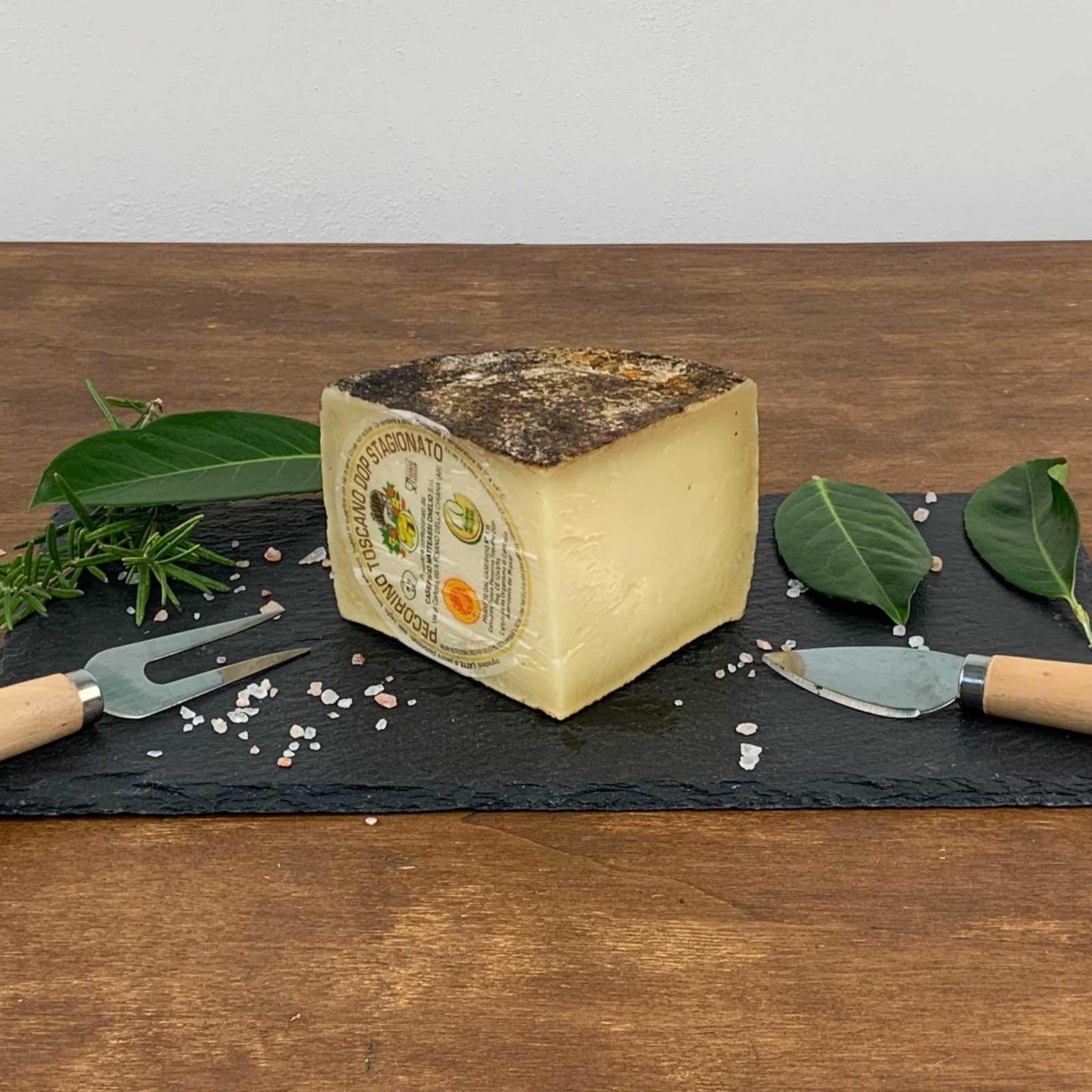 Aged Tuscan Pecorino Cheese PDO.